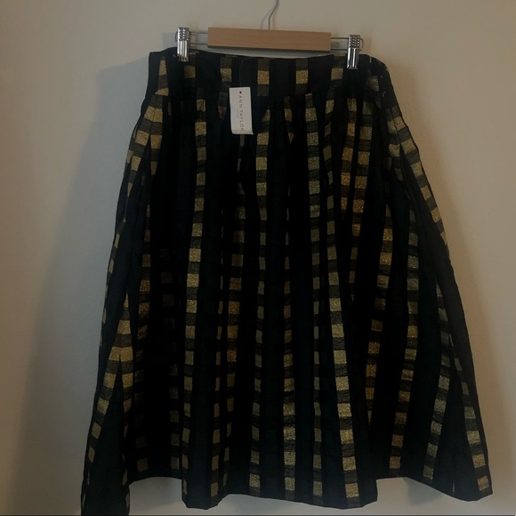 Ann Taylor Dresses & Skirts - Gold plaid Ann Taylor Skirt